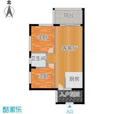 山水绿世界92.00㎡10号楼0户型2室2厅1卫