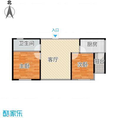 益田枫露74.00㎡二期G3户型2室2厅1卫