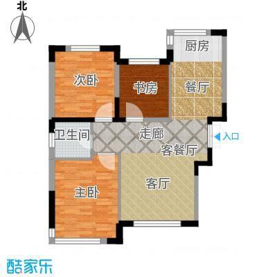 中国铁建国际花园97.00㎡二期GE户型3室2厅1卫