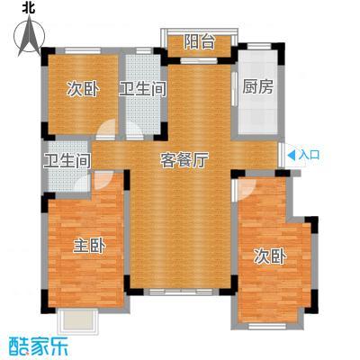 远创樾府126.00㎡F户型3室2厅2卫