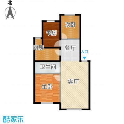 东方之珠龙翔苑90.00㎡D户型3室2厅1卫
