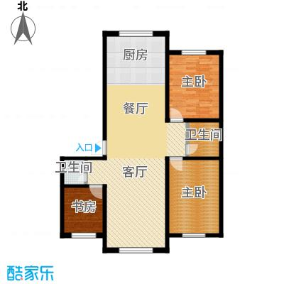 东方之珠龙翔苑110.00㎡E户型3室2厅2卫