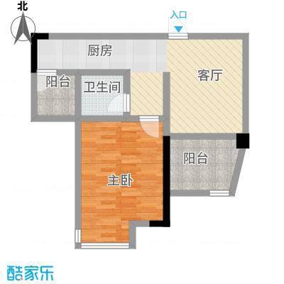 海逸卡拉公寓53.00㎡户型1室1厅1卫