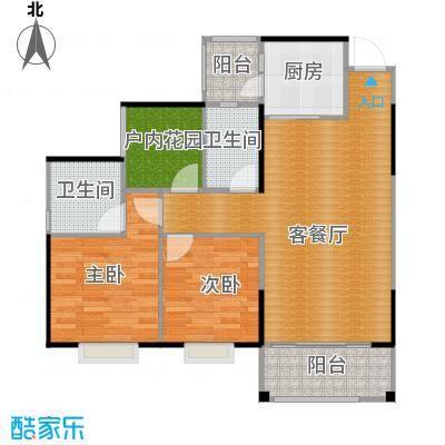 海逸锦绣誉峰91.00㎡7/8栋04、05单位户型3室2厅2卫