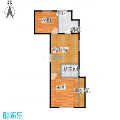 东皇君园77.00㎡F3户型2室1厅1卫