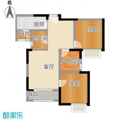 中海锦城89.00㎡一街1/2栋04单元户型3室2厅1卫