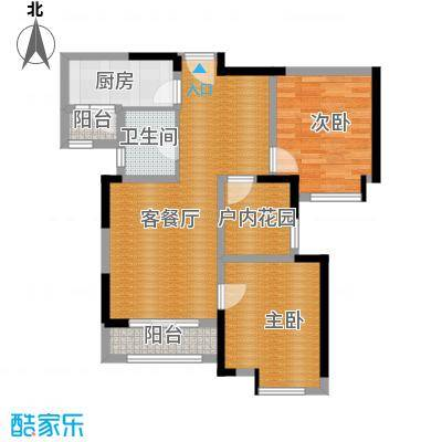 中海锦城89.00㎡2街5座04单位户型3室2厅2卫
