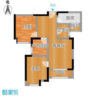 中海锦城89.00㎡2街5座03单位户型3室2厅2卫