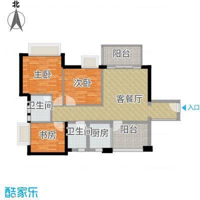 领地海纳公馆90.95㎡6-29层01/04户型3室1厅2卫1厨