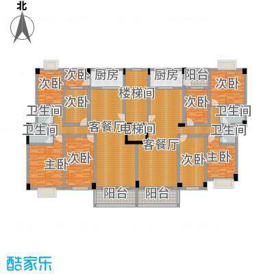 翠园雅居293.07㎡7座楼层平面图户型9室2厅4卫2厨