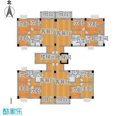 翠园雅居399.38㎡11座楼层平面图户型9室4厅5卫4厨