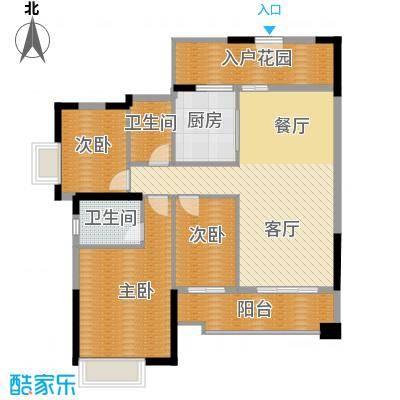 雅居乐都荟天地121.00㎡1/2栋01/06单位户型3室1厅2卫1厨