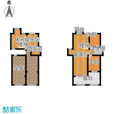 伟业星城91.00㎡三期花园洲F(底跃)户型2室2厅1卫