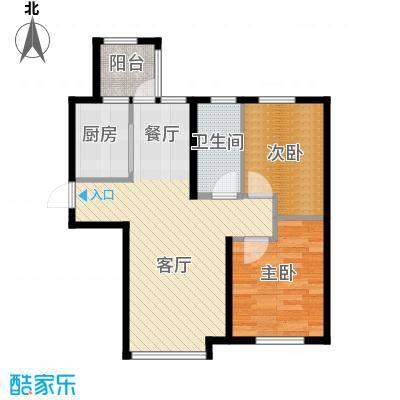 益田枫露89.00㎡二期G1户型2室2厅1卫