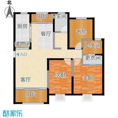 恒盛豪庭143.00㎡J-3户型3室2厅2卫