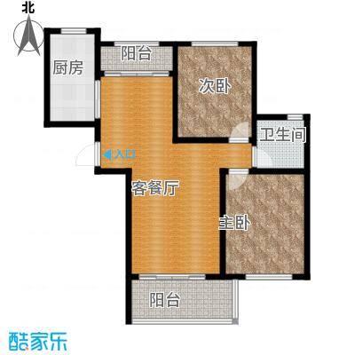 碧桂园滨湖城84.50㎡户型3室2厅1卫