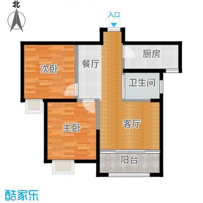 恒盛豪庭86.00㎡J-2户型2室2厅1卫