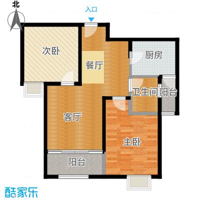 恒盛豪庭92.00㎡H-2户型2室2厅1卫