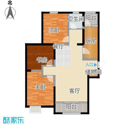 恒盛豪庭126.00㎡J-1户型3室2厅1卫