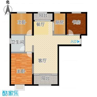 恒盛豪庭128.00㎡H-1户型3室2厅1卫