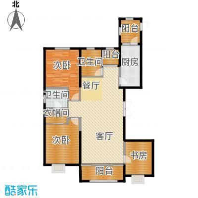 恒盛豪庭164.00㎡F户型3室2厅2卫