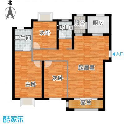 天旺名都129.84㎡一期6#、7#楼A户型3室2厅2卫