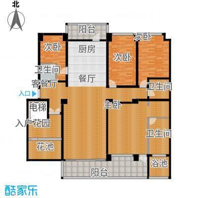 万联・晋海222.13㎡A1户型4室2厅3卫