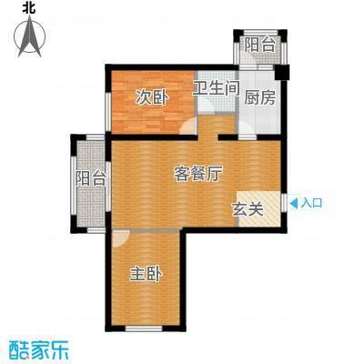 永安城77.69㎡1#2#5#-A户型2室1厅1卫1厨