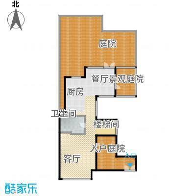钱湖沐桥7.00㎡联排7号楼A1一层平面总户型4室3厅5卫