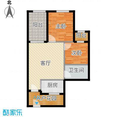 君和君泰61.00㎡C户型2室1厅1卫1厨