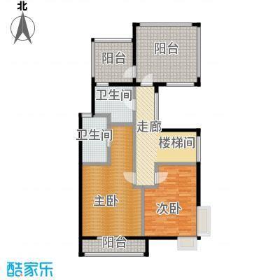 钱湖沐桥7.00㎡联排7号楼A1二层平面图总户型4室3厅5卫