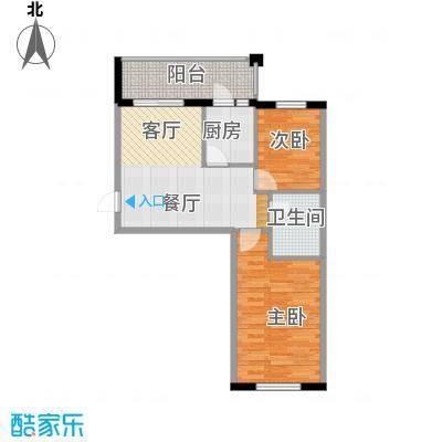 什河丽景57.98㎡户型2室1厅1卫