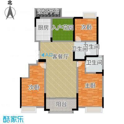 华地紫园147.00㎡户型3室2厅2卫