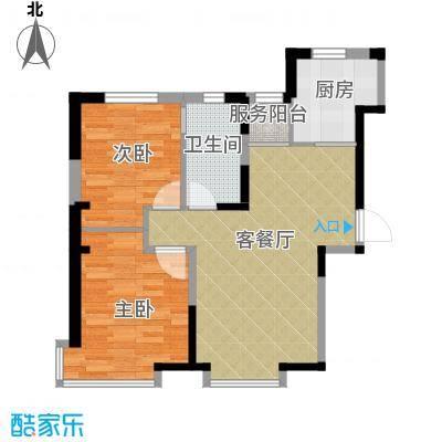 益田枫露89.00㎡B1户型2室2厅1卫