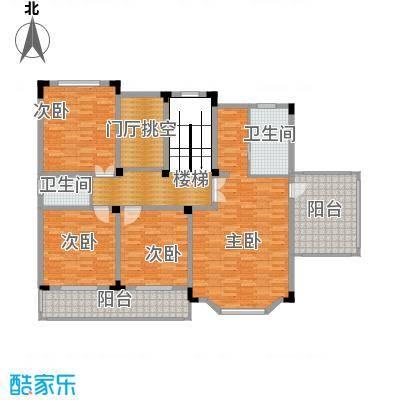 中浩青溪庄园138.24㎡B二层平面户型10室