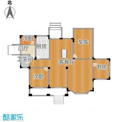 中浩青溪庄园195.73㎡B一层平面户型10室