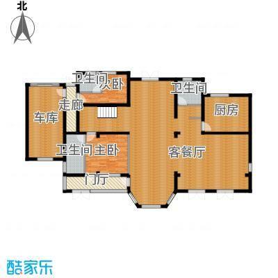 中浩青溪庄园210.97㎡F2一层平面户型10室