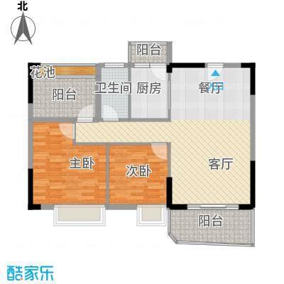 星御名都92.00㎡D栋03单元户型2室1厅1卫1厨