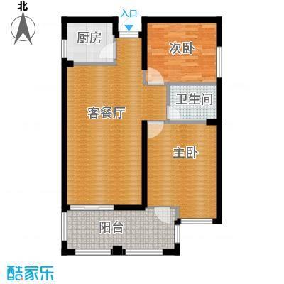 国贸天琴湾103.00㎡3/5号楼E2+入户花园户型2室2厅1卫
