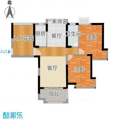 国贸天琴湾120.00㎡4号楼C+入户花园户型2室2厅1卫
