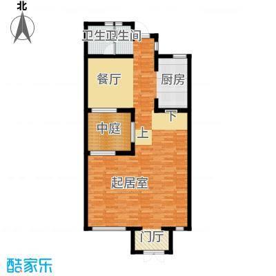 颐和南园别墅93.34㎡颐和南园s1联排别墅一层户型1卫
