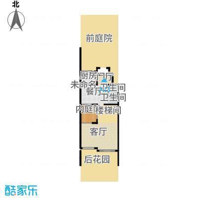 颐和南园别墅100.53㎡颐和南园N1联排别墅一层户型1卫1厨