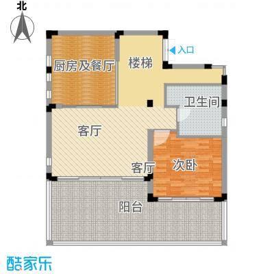 中信・香水湾100.14㎡闲墅B1地上一层户型1室3厅1卫