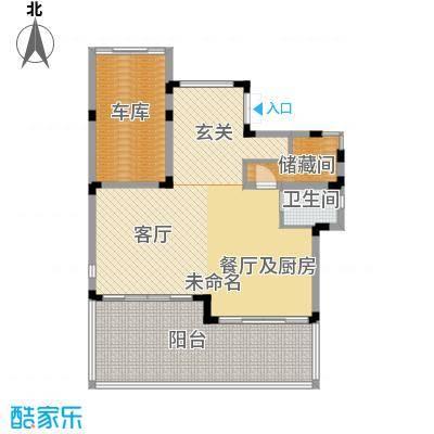 中信・香水湾81.12㎡闲墅A3地上一层户型3厅1卫