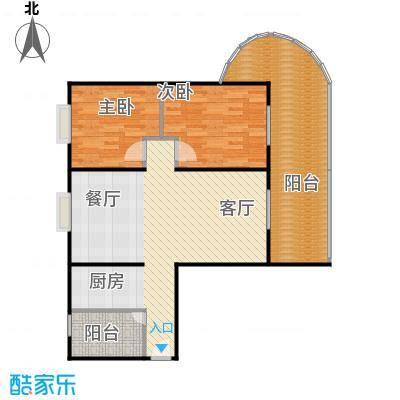 美好・龙沐湾93.83㎡C1户型2室1厅