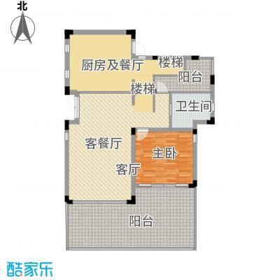 中信・香水湾99.82㎡闲墅A4地上二层户型1室2厅1卫