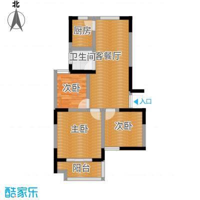 光盛豪庭89.00㎡户型3室2厅1卫