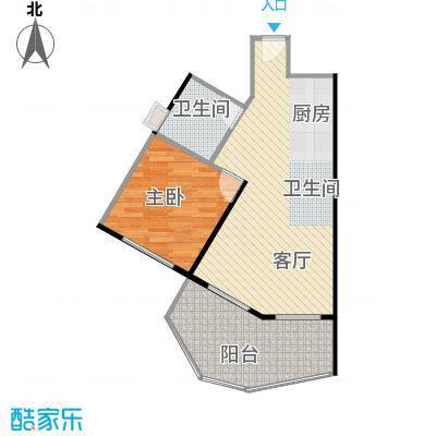 美好・龙沐湾63.26㎡D4户型1室1厅1卫