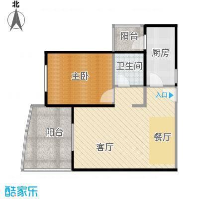 美好・龙沐湾68.18㎡C2户型1室1厅1卫1厨