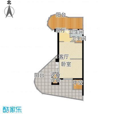 龙栖湾・波波利海岸104.00㎡户型1室1厅1卫